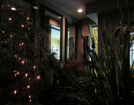 relaxing setting and private for our clients, entrance into our business