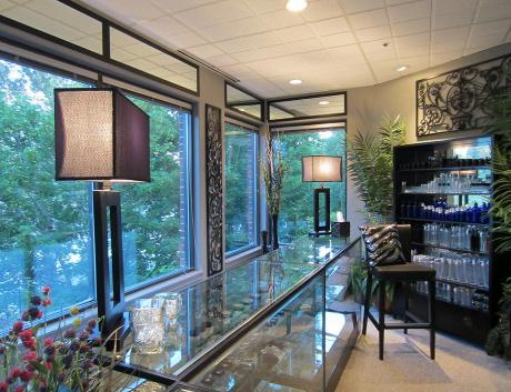 one of many retails areas, natural lighting, river front views, privacy for our clients - 2012