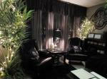 sitting area in private treatment room, peaceful evening setting - new location 2012